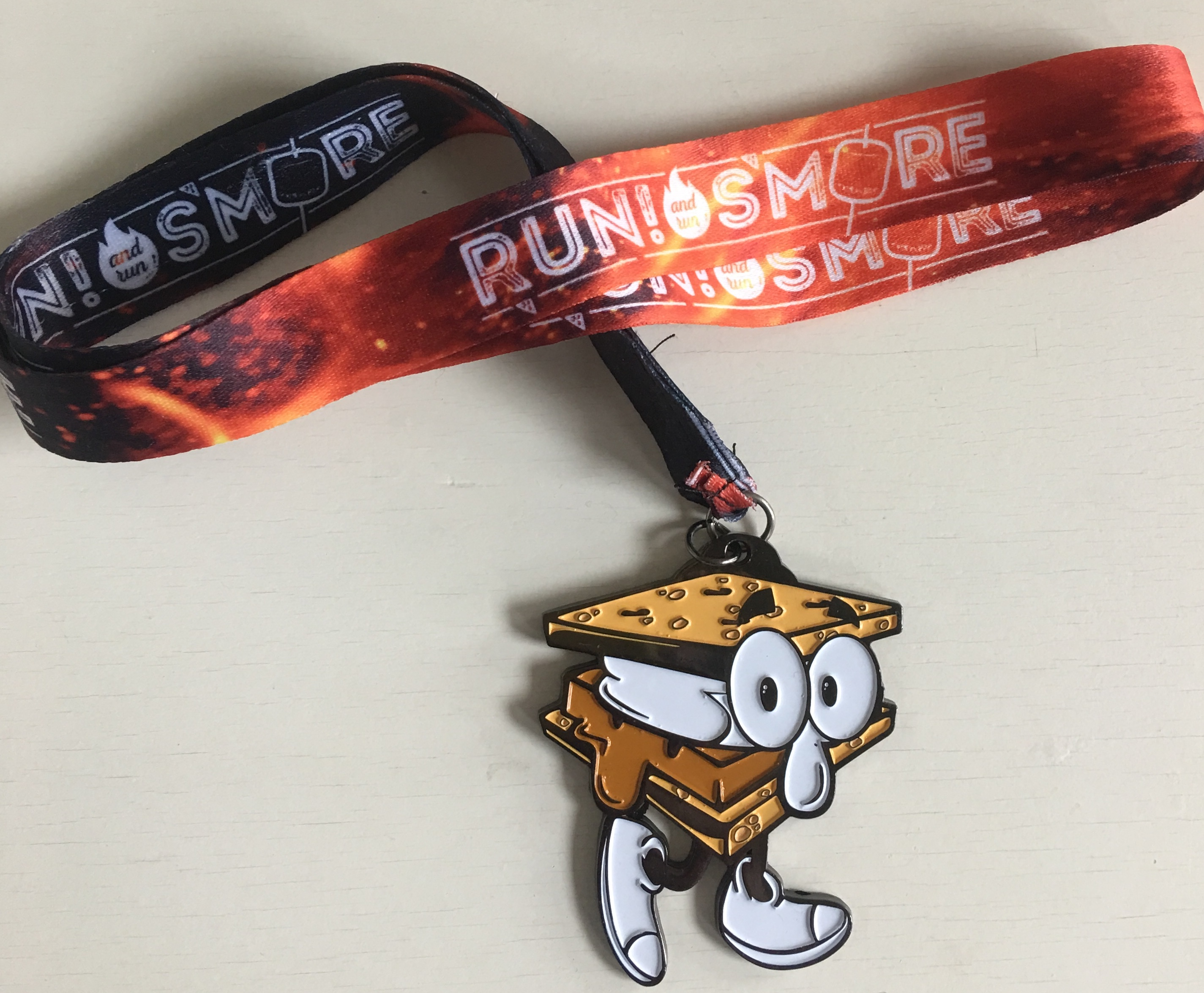 Sammie Smore medal and lanyard